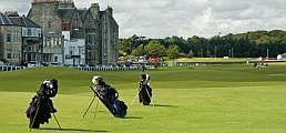 Guide to St Andrews - Old Course, St Andrews, bags on the fairway