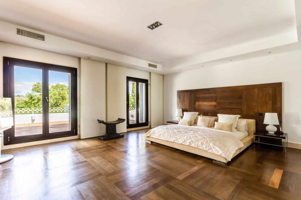 Los Halcones, San Roque Club. individually designed master bedroom with wet  room.