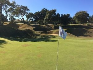 San Roque New 9th green bunkers